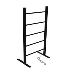 EV-100 Bathroom Ladder Aluminum Black Towel Warmer Floorstanding Electric Heated Towel Rail