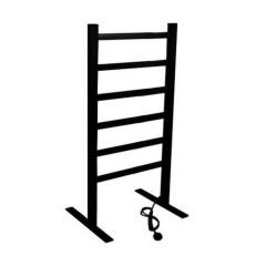EV-120-2 Bathroom Ladder Aluminum Black Towel Warmer Floorstanding Electric Heated Towel Rail