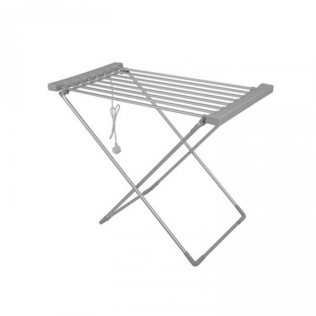 EV-120 Household Aluminum Grey Oxidized Heated Clothes Airer Folding Electric Clothes Dryer