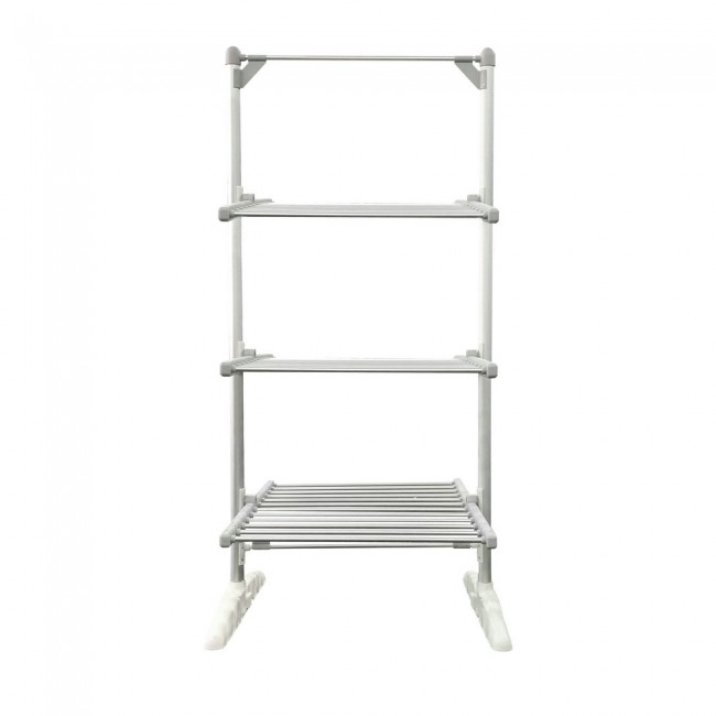 EV-300-1 Household Aluminum Grey Oxidized 3-Tier Heated Clothes Airer Folding Electric Clothes Dryer