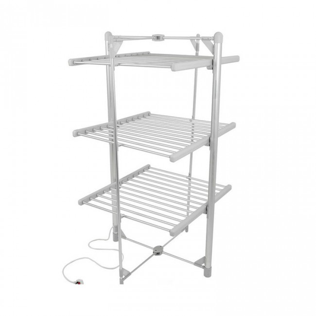 EV-300 Household Aluminum Grey Oxidized 3-Tier Heated Clothes Airer Folding Electric Clothes Dryer