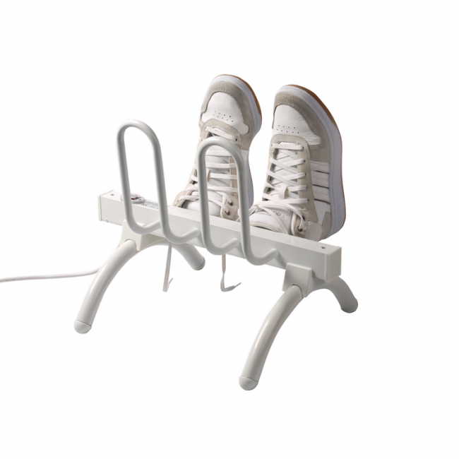 EV-40-1 Household Freestanding Aluminum Heated Shoe Rack White Painted Electric Shoe Dryer