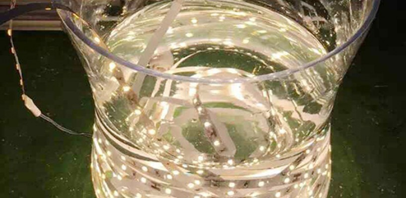 YouHuan' waterproof flexible LED strip lighting needn't PC casing at all.
