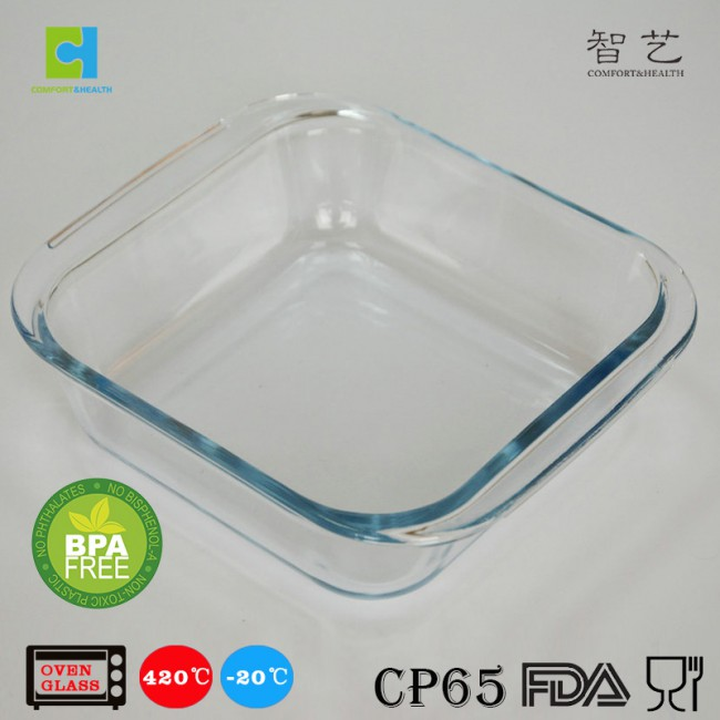 CH0.9/1.1/1.8S borosilicate glass square baking dish