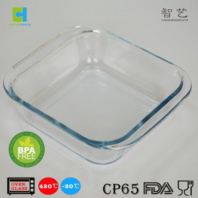 CH0.9/1.1/1.8S borosilicate glass square baking dish