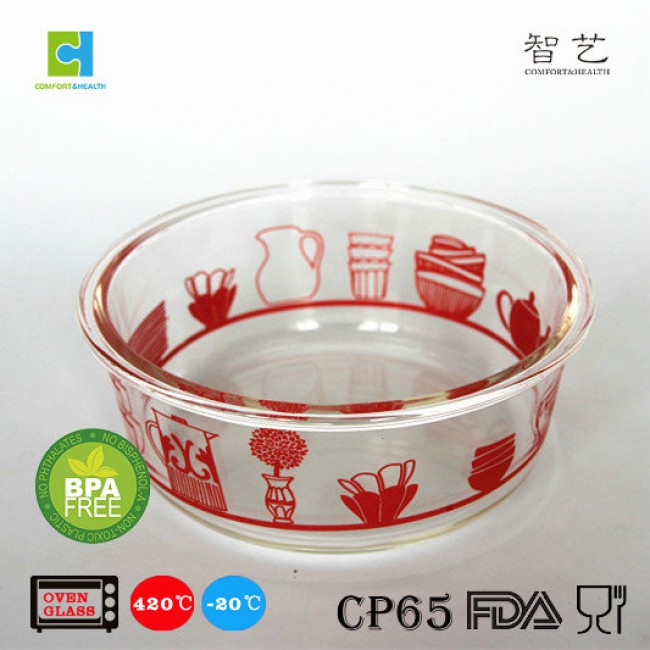 CH1.6/2.2L Round borosilicate glass pie plate baking plate