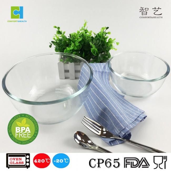 CHSLW Round borosilicate glass bowl salad bowl