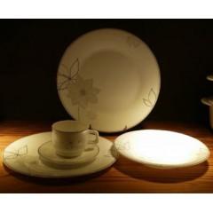 """CHLFBP70/80/90/100/110 spinning opal glass dinner plate flat plate 7"""" 8"""" 9"""" 10"""" 11"""""""