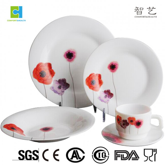 CH20A 20pcs  opal glassware dinner set