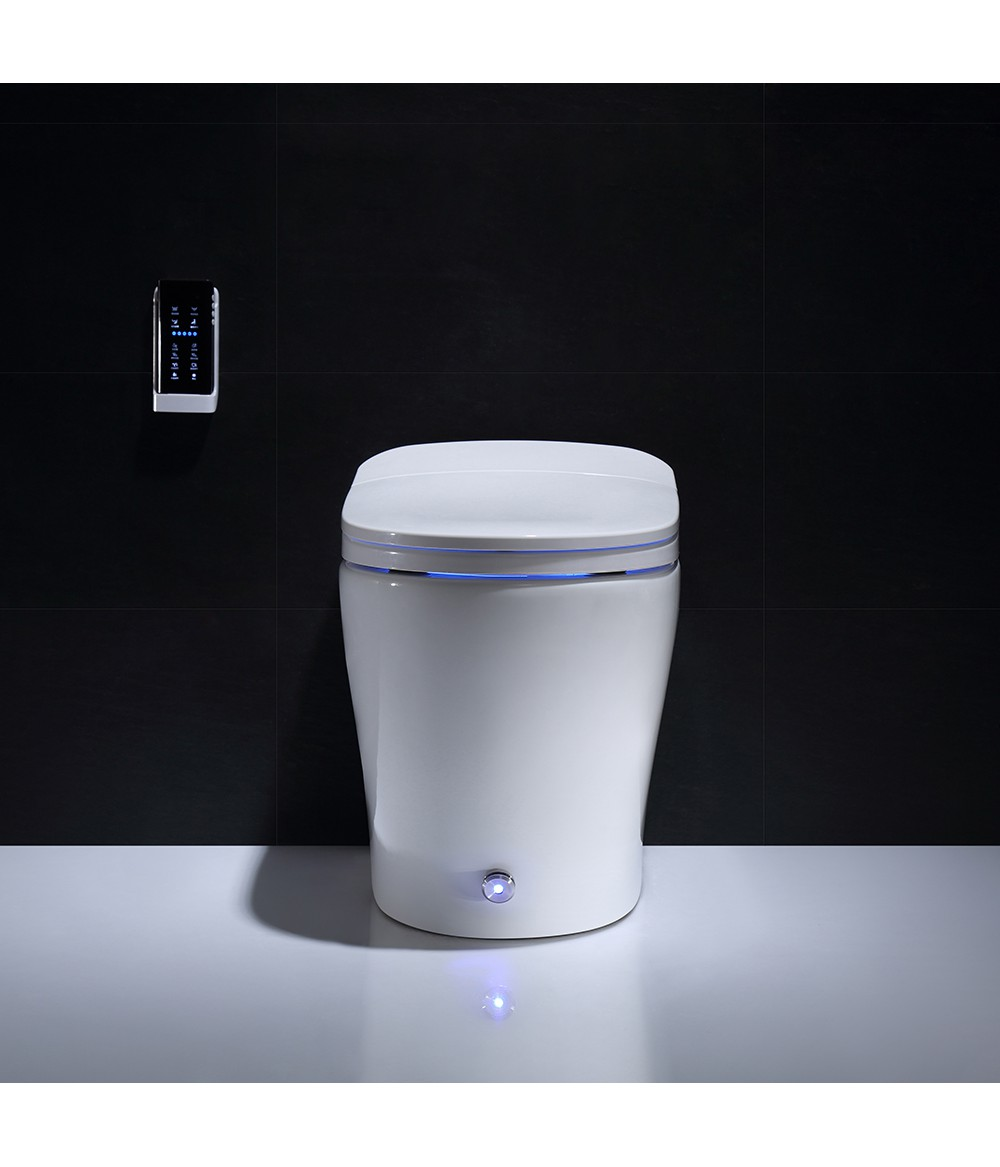 Wholesale bathroom vanity wc toilets one piece kicking automatic flushing washroom smart intelligent wc toilet