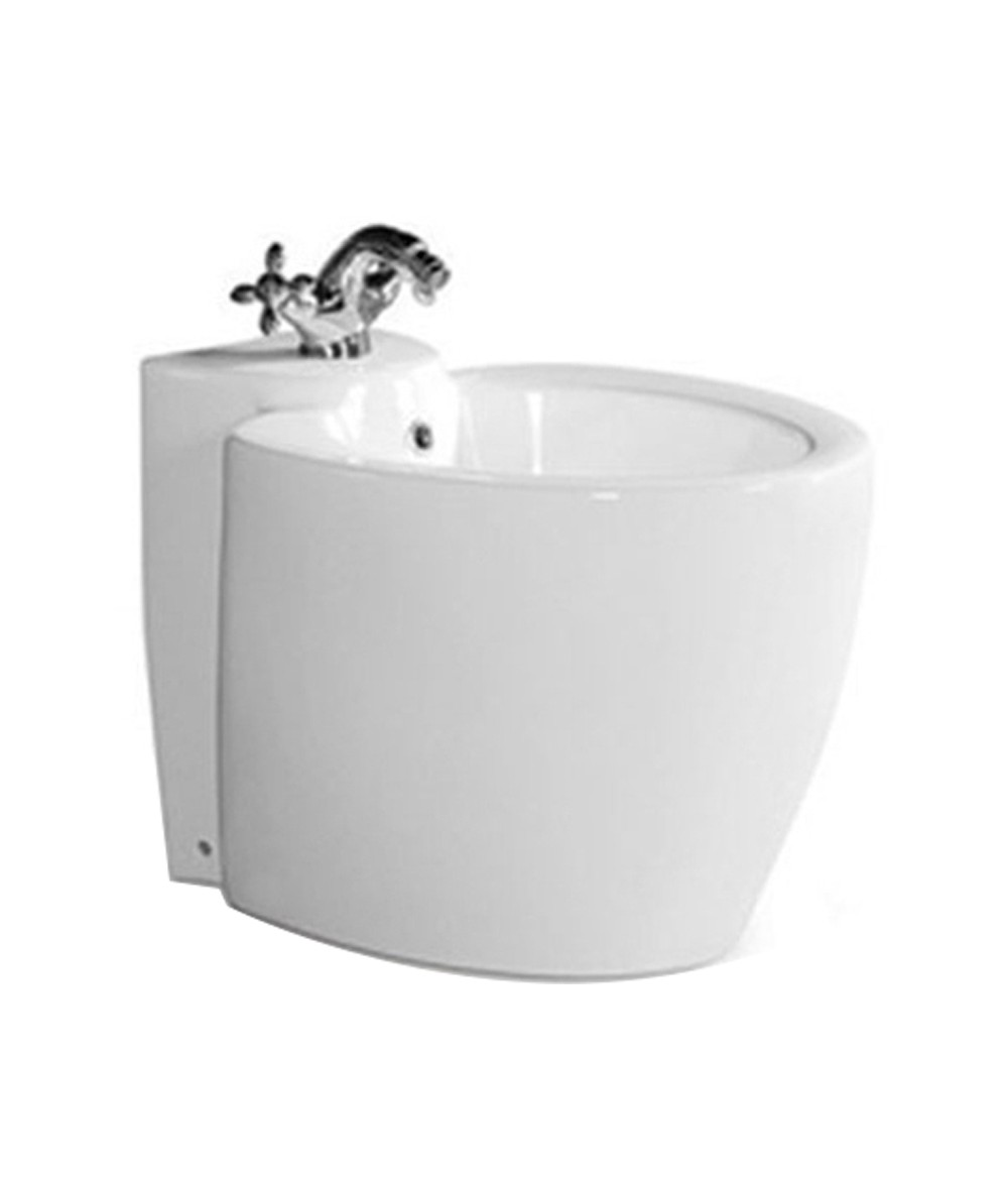 Sanitary Ware White Floor Mounted Bathroom Ceramic Toilet Bidet