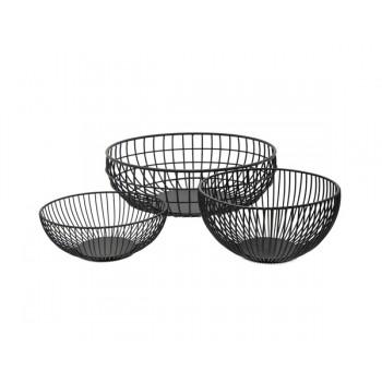 Kitchen Accessory Black color Iron wire Fruit Basket