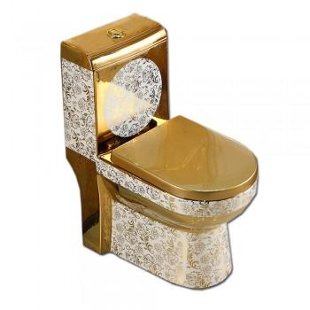 fashion bathroom Sanitary Ware Wc Gold Color Toilet