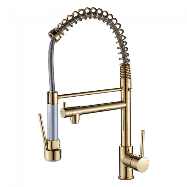 Luxury Tall And Big Kitchen Faucet Pull Out Mixer Tap Spring Loaded Kitchen Sink Mixer Tap Faucets