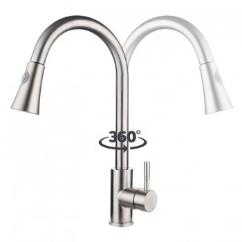 New Bathroom Accessories Stainless Steel 304 Online Pull Out Mixer Kitchen Spray Taps