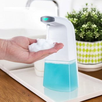New Design Liquid Soap Dispenser, Automatic Touchless Foam 400ML Soap Dispenser Hands-Free Auto Hand Countertop Soap Dispenser