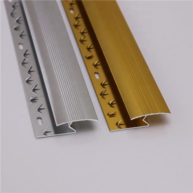 Aluminum Carpet Underlay Floor Covering Silver Floor Edging Carpet Trim