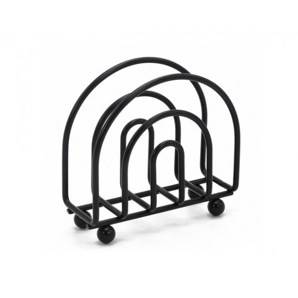 Napkin holder in black color for Kitchenware