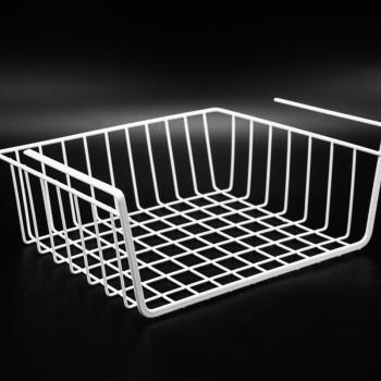 Chinese supplier wardrobe felt wire hanging under shelf storage basket organizer for home
