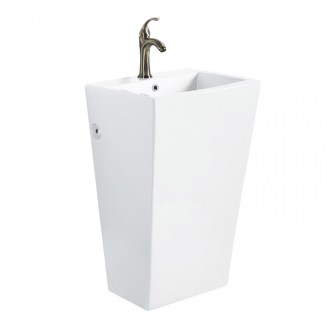 Popular design high height cheap ceramic bathroom sink standing mounted pedestal basin