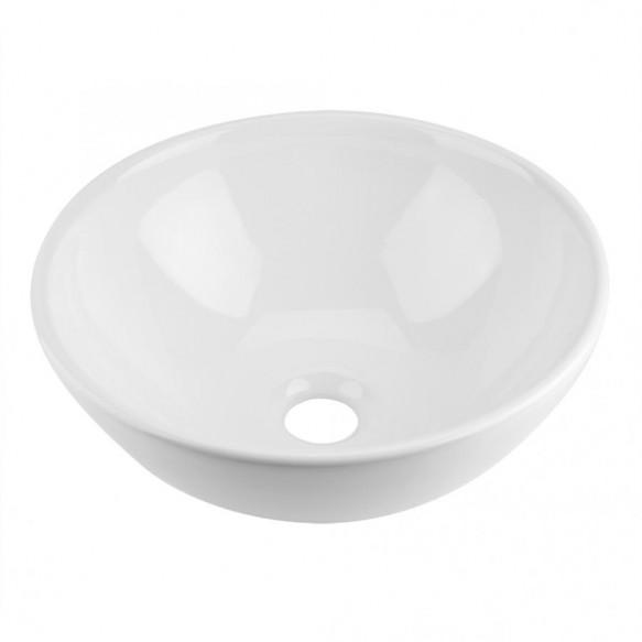 Bathroom Sinks Bowl Shape Bathroom Ceramic Countertop Vessel Sink Bathroom Wash Basin White  Bathroom Accessaries