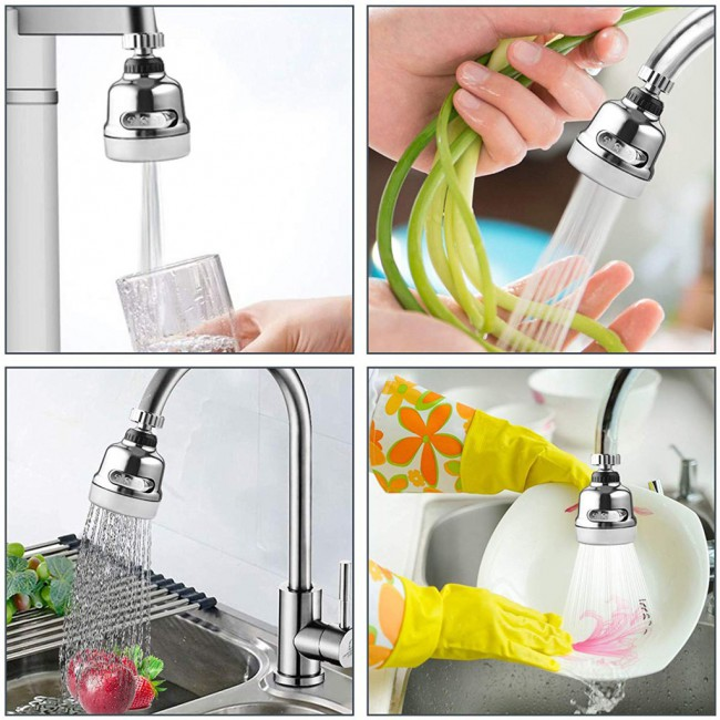 360 Degree Rotary Valve Nozzle Anti Sputter Filter Water Filter Adapter Head Shower Head Bicycle Saving Valve Bathroom Kitchen Tool