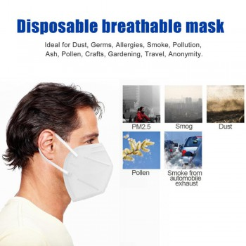 KN95- 10PC FFP2 Safety Air filter mask, personal health facial mask Anti-pollution respiratory mask, equivalent to N95 or KN94