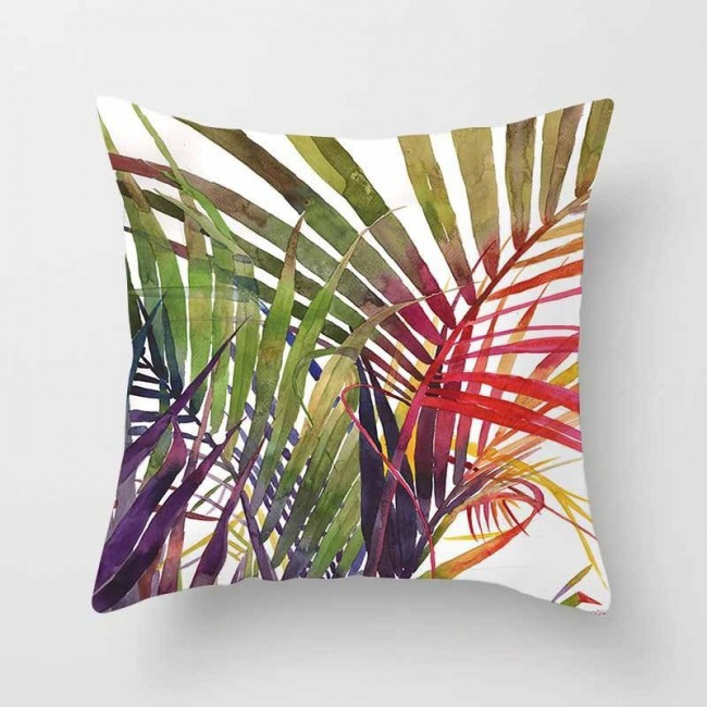 Decorative sofa cushion cover Tropical plant leaf pillow pillowcase Polyester 45 * 45 throw pillow home decor pillowcase 40506-X