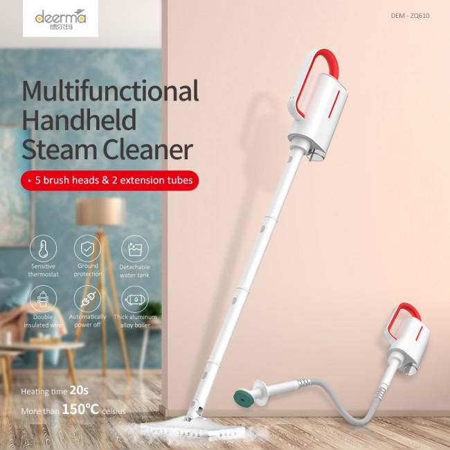 DEM - ZQ610 Handheld Steam Cleaner Steam Mop Cleaner Multifunctional Sterilization Anti-Dry Detachable Water Tank