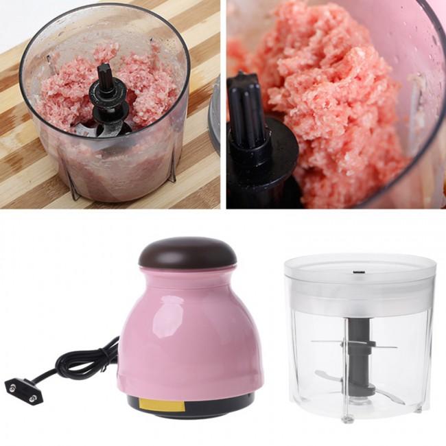 300W ue Plug Mini electric meat chopper food processor fruit blender Chopper 600Ml-Eu Plug