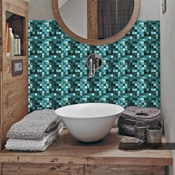 25Pcs/Pack PVC Wall Sticker Tile Bathroom Waterproof Mosaic Sticker Self-Adhesive TV Background Walls Decor 10*10cm/15*15cm