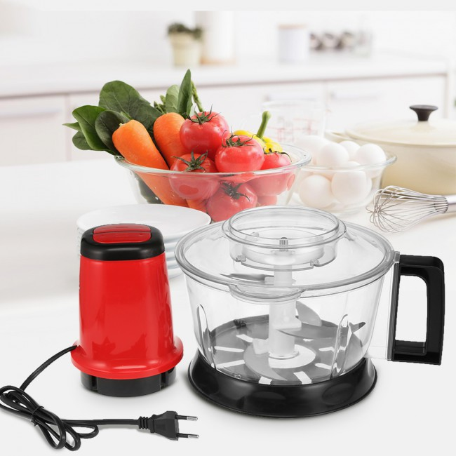 2.6L meat chopper automatic electric chopper stainless steel chopper machine vegetables fruit meat Cutter food robot blender