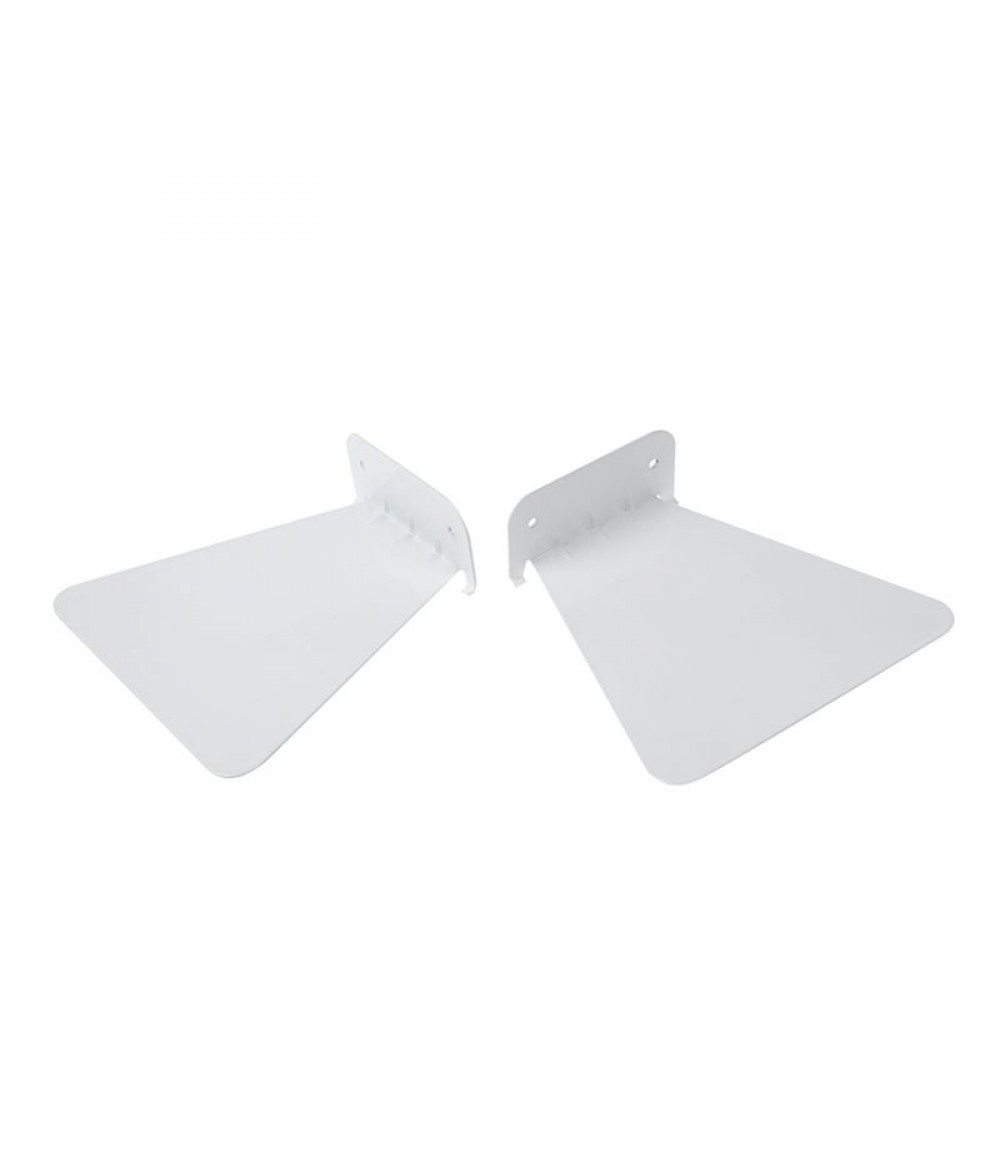2 Pieces Modern Iron Book Shelf Invisible Wall Shelf For Home Decoration Floating Shelf (White)