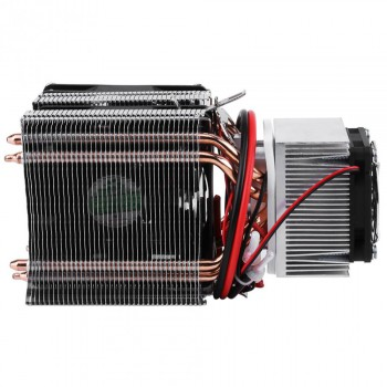 DC 12V Peltier Refrigeration Cooling Air Cooling Radiator DIY Fridge Cooler System 20A 180W Semiconductor Mini Air Conditioner