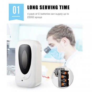 Touchless Hand Disinfection Machine Mist Spray Hand Hygiene Automatic Sensor Hand Cleaner Induction  Machine no Batteries
