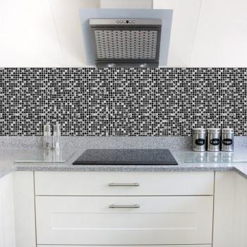 Funlife Self Adhesive Mosaic Tile Sticker,Kitchen Backsplash Bathroom Wall Tile Stickers Decor Waterproof Peel&Stick PVC Tiles