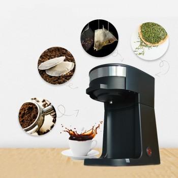 Electric American Drip Coffee Maker Automatic Mini Espresso Latte Teapot Boiler Powder Cafe Tea Steam Brewing Pot Machine