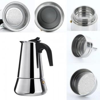 100/200/300/450ml Coffee Maker Italian Top Moka Espresso Cafeteira Expresso Percolator Stainless Steel Stovetop Coffee Maker Pot