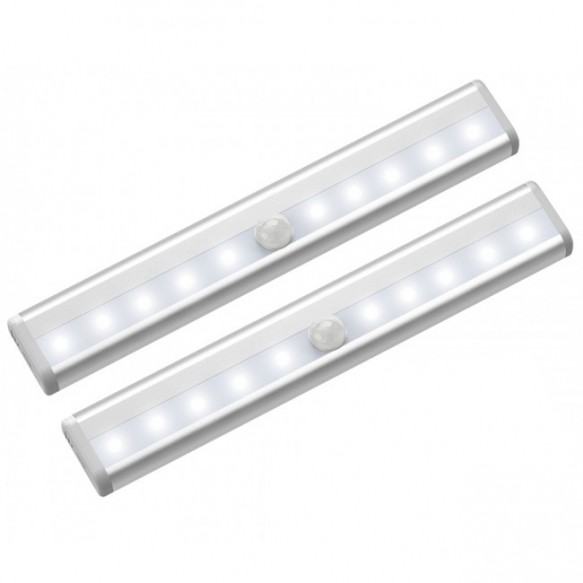 6/10 LEDs PIR LED Motion Sensor Light Cupboard Wardrobe Bed Lamp LED Under Cabinet Night Light For Closet Stairs Kitchen