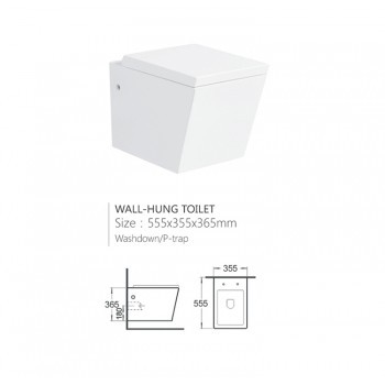 Modern design european standard ceramic white bathroom hotel ware wall hung toilet