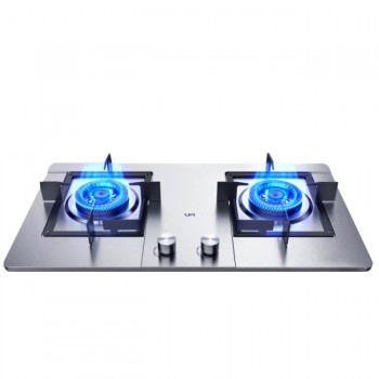 Embedded Gas Stove Double Household Cooking Machine Stainless Steel Cooktop LPG/Natural Gas Cooker