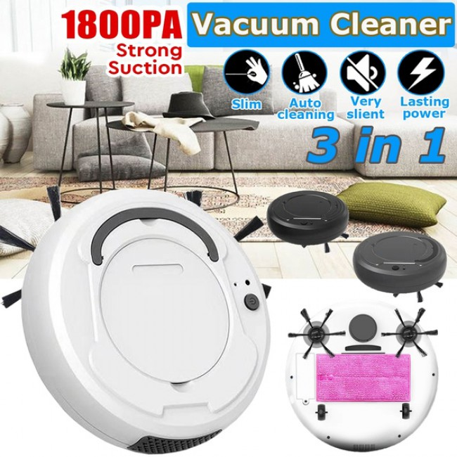 1800Pa Multifunctional Smart Floor Cleaner 3-In-1 Auto Rechargeable Smart Sweeping Robot Dry Wet Sweeping Vacuum Cleaner