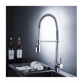 Chrome Pull Down Kitchen Sink Sprayer Mixer Tap Kitchen Faucet 360 Degree Rotation Taps