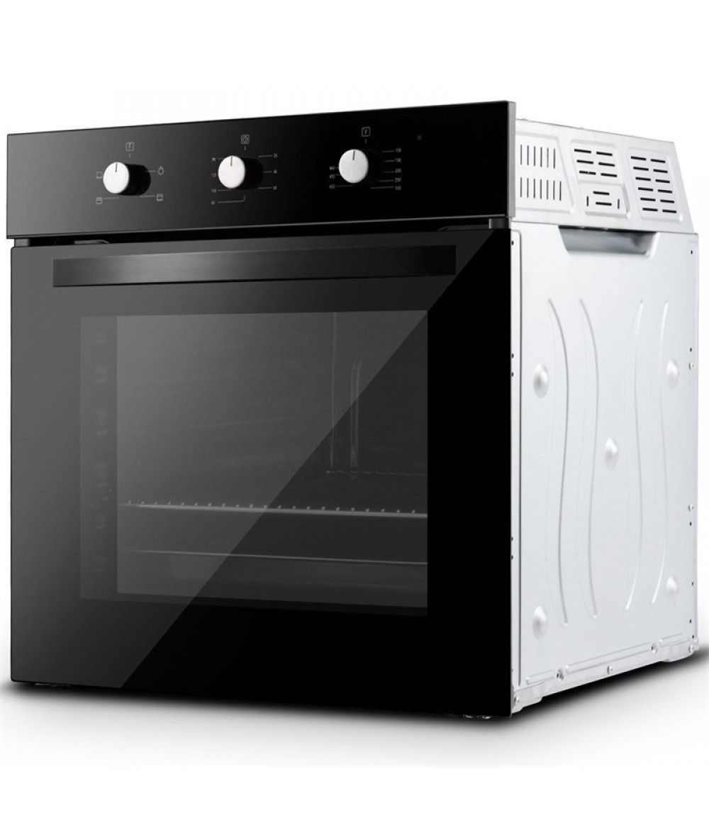 """Costway 24"""" Electric Built-In Single Wall Oven 220V Buttons Control 4 Cooking Modes Baking Sheet Baking Net Wall Oven EP23612"""
