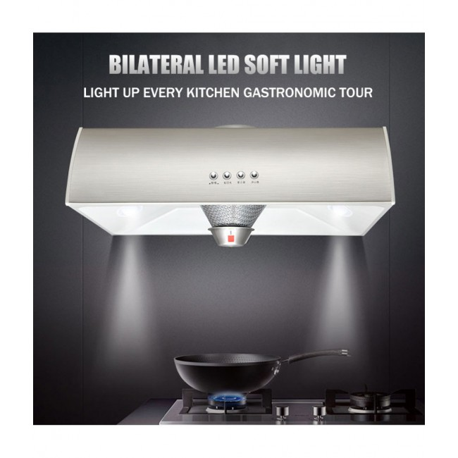 Exhaust Hood Large Suction Stainless Steel High Power Ultra-thin Household Small Single Range Hood For Kitchen D6