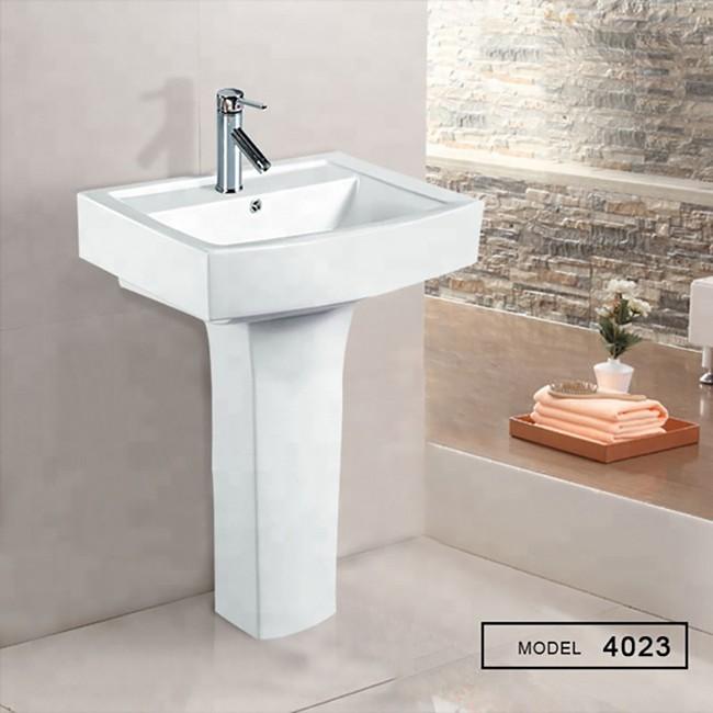 Middle market wholesale and good quality Pedestal Wash Basin For bathroom