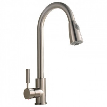 2018 New Commercial Brass Single Handle Pull Down Sprayer Kitchen Faucet Brushed Nickel 360 Degree Rotation Mixer Tap