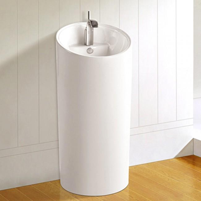 Ceramic modern porcelain pedestal sinks J-008