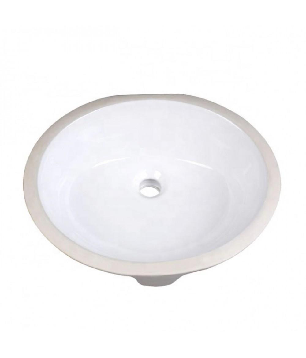 1714 CUPC and CSA Oval Ceramic Bathroom Sink Modern Wash Basin Undermount Vanity Sink for Home Hotel