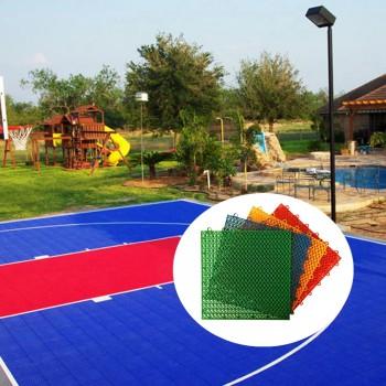 Indoor Multipurpose Sports Court Flooring Interlocking Plastic Tiles